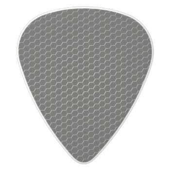 Carbon-fiber-reinforced Polymer White Delrin Guitar Pick by bartonleclaydesign at Zazzle