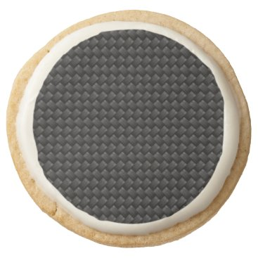 USA Themed Carbon fiber round shortbread cookie