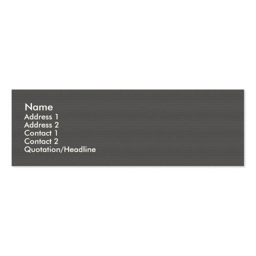 Carbon fiber skinny business card.