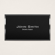 Carbon Fiber Sports Agent Business Card at Zazzle