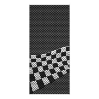Carbon Fiber Style Racing Flag Wave Decor Rack Card