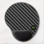 "Carbon Fiber Style with Monogram Gel Mouse Pad<br><div class=""desc"">Carbon Fiber Style with Monogram</div>"