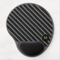 Carbon Fiber Style With Monogram Gel Mouse Pad at Zazzle