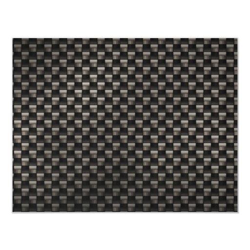 Carbon Fiber Texture 4.25x5.5 Paper Invitation Card