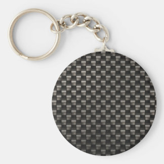 Carbon Fiber Texture Keychain