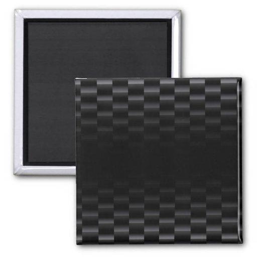 Carbon Fiber Textured 2 Inch Square Magnet