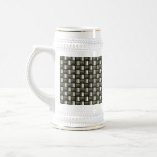 Carbon Fiber Textured Beer Stein