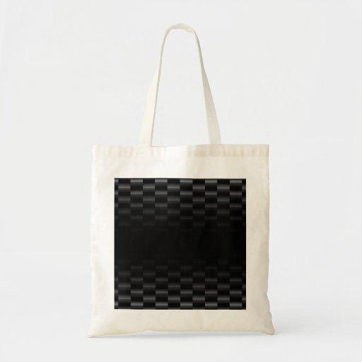Carbon Fiber Textured Canvas Bags