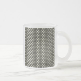Carbon Fiber Textured Frosted Glass Coffee Mug