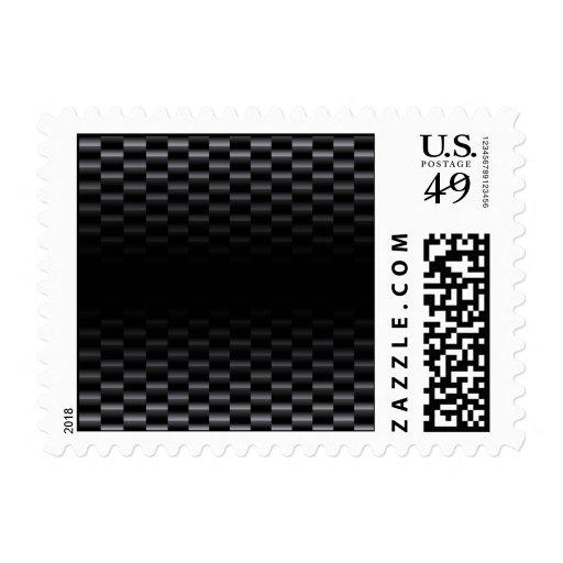 Carbon Fiber Textured Postage Stamps