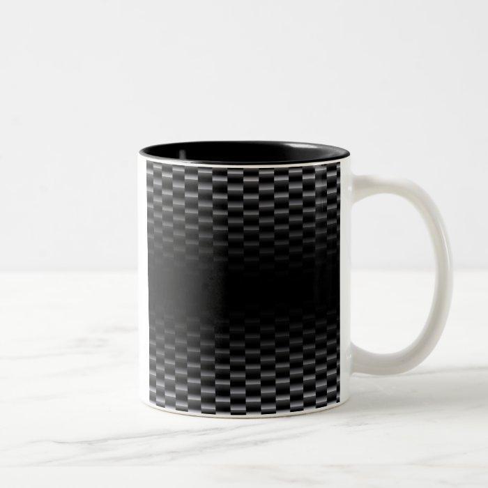Carbon Fiber Textured Two-Tone Coffee Mug