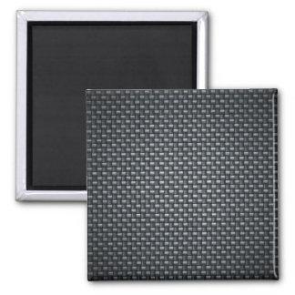 Carbon Fibre Look 2 Inch Square Magnet