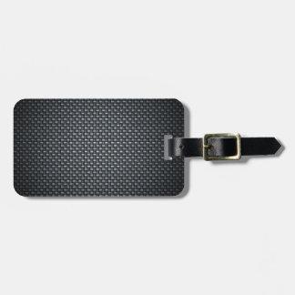 Carbon Fibre Look Bag Tag