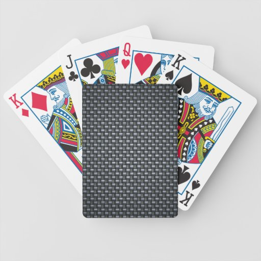 Carbon Fibre Look Bicycle Playing Cards
