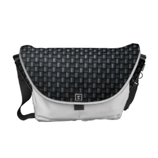 Carbon Fibre Look Messenger Bag