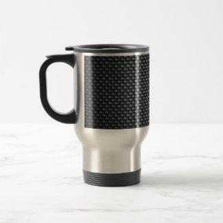 Carbon Fibre Look Travel Mug