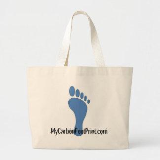 carbon foot print 2 jumbo tote bag