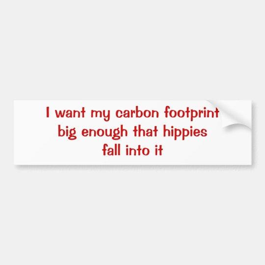 Carbon Footprint Bumper Sticker