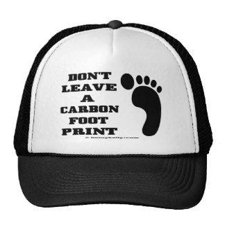 Carbon Footprint,Cap,Ecology,Green Mesh Hats