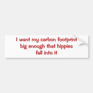 Carbon Footprint Car Bumper Sticker