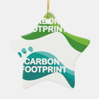 Carbon Footprint Ceramic Ornament