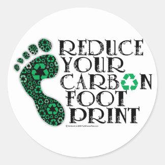 Carbon Footprint Classic Round Sticker