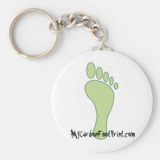 Carbon FootPrint Green Keychain