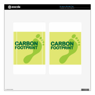 Carbon Footprint Kindle Fire Decals