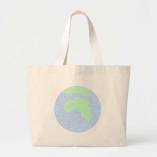 Carbon footprint large tote bag
