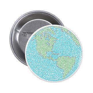 Carbon Footprint Pinback Button