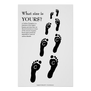 Carbon footprint posters photo prints zazzle carbon footprint poster print maxwellsz