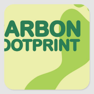 Carbon Footprint Square Sticker