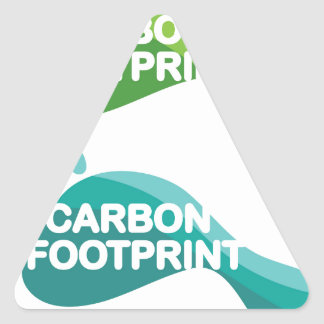 Carbon Footprint Triangle Sticker