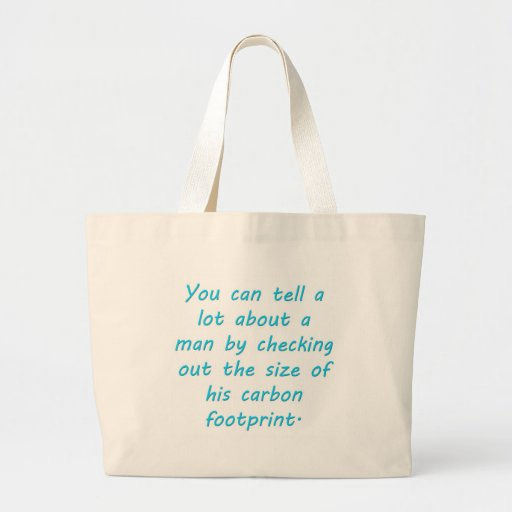 Carbon Footprint Turquoise Canvas Bags