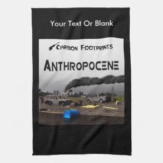 Carbon Footprints - Anthropocene Kitchen Towel
