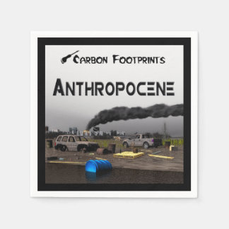 Carbon Footprints - Anthropocene Standard Cocktail Napkin