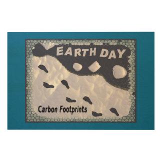 Carbon Footprints Wood Print
