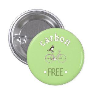 Carbon free pinback button