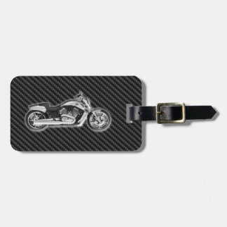 Carbon Harley Motorcycle 3D Fashion Accessory Tag For Bags