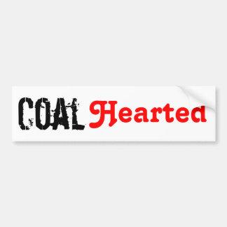 Carbón Hearted Pegatina De Parachoque