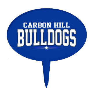 Carbon Hill High School; Bulldogs Cake Toppers