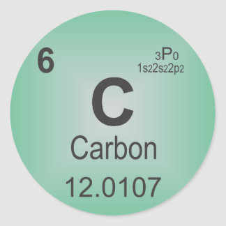 Carbon Individual Element of the Periodic Table Classic Round Sticker