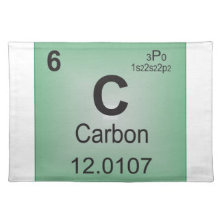 Carbon Individual Element of the Periodic Table Cloth Placemat