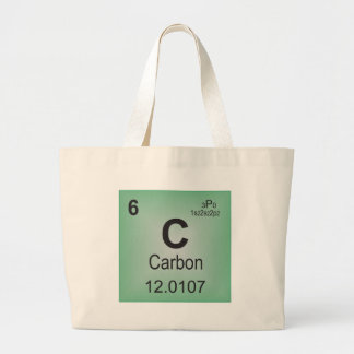 Carbon Individual Element of the Periodic Table Large Tote Bag