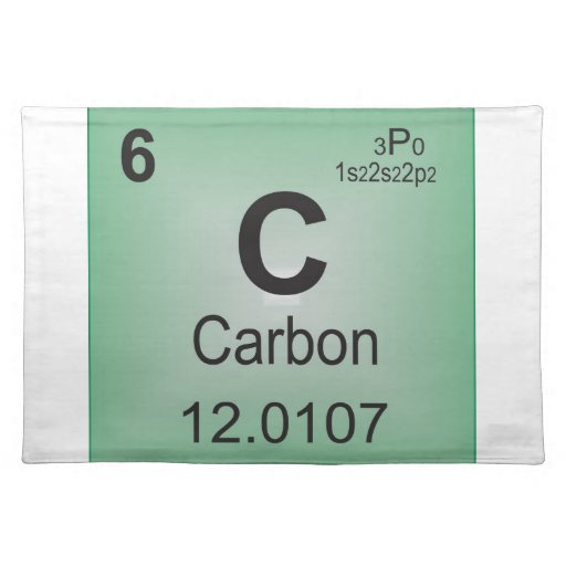 Carbon Individual Element Of The Periodic Table Placemat Zazzle