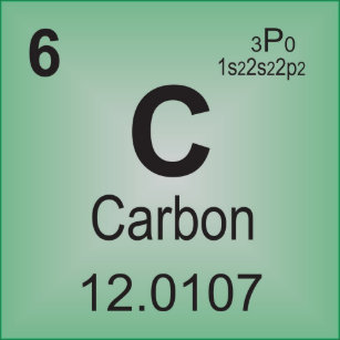 Carbon periodic table postcards zazzle carbon individual element of the periodic table postcard urtaz Choice Image