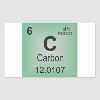 Carbon Individual Element of the Periodic Table Rectangular Sticker