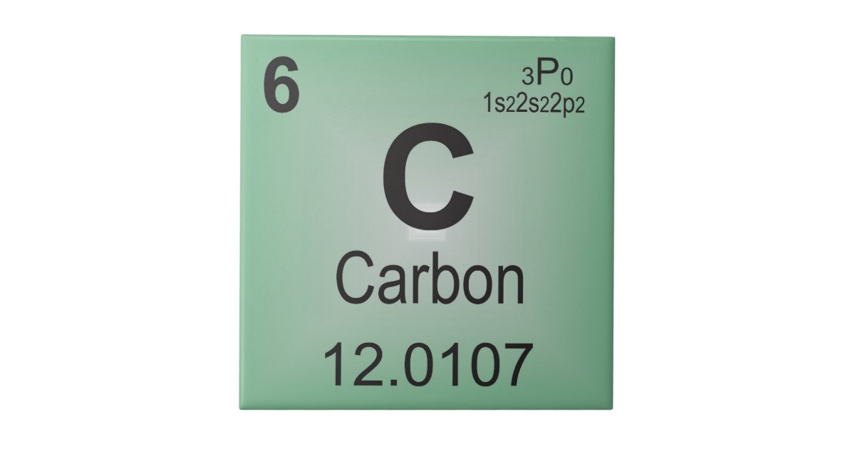 Carbon Individual Element Of The Periodic Table Tile Zazzle