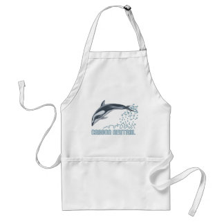 Carbon neutral conservation / dolphin jumping adult apron