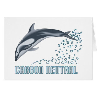 Carbon neutral conservation / dolphin jumping card